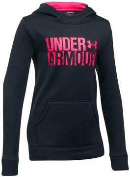 Under Armour Girls 7-16 Favorite Fleece Wordmark Hoodie
