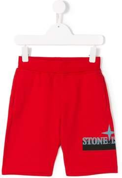 Stone Island Junior printed logo shorts