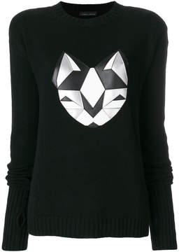 Frankie Morello silver cat sweater