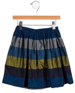 Jacadi Girls' Striped Flared Skirt