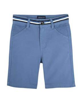 Andy & Evan Cotton-Stretch Mock Belt Shorts, Size 3-24 Months