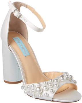 Betsey Johnson Pearl Satin Sandal