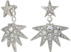 Kenneth Jay Lane Silver/Crystal Star Post Ear Jacket Earrings Earring