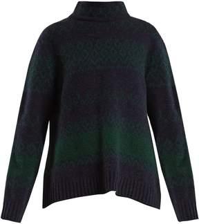 A.P.C. Saskia funnel-neck Fair-Isle wool-blend sweater