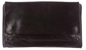 Dries Van Noten Leather Flap Clutch