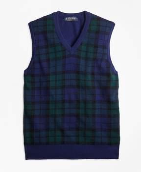 Brooks Brothers Cashmere Black Watch Plaid Vest