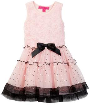 Betsey Johnson Rose Soutache Top & Sequin Disco Dot Tulle Dress (Little Girls)