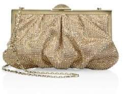 Judith Leiber Couture Natalie Metallic Crystal Frame Clutch