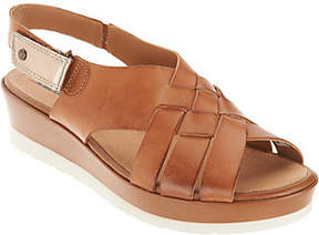Earth Leather Wedge Sandals - Sunflower