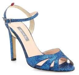 Sarah Jessica Parker Westminster Glitter Ankle-Strap Sandals
