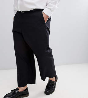French Connection PLUS Wide Leg Cropped Suit PANTS In Black