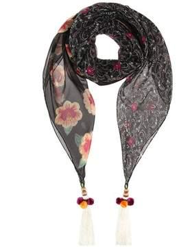 Etro Tassel-embellished silk scarf