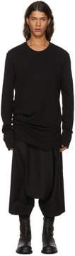 Julius Grey Long Sleeve Shirring Cut and Sewn T-Shirt