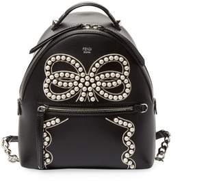 Fendi Women's Embellished Mini Leather Backpack
