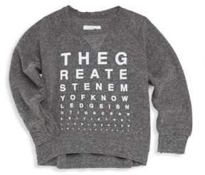 Nununu Little Girl's Vision Test Sweatshirt