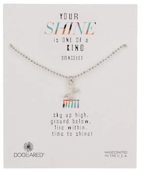 Dogeared Sterling Silver Your Shine Crossing Arrows Bracelet