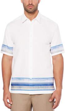 Cubavera Border Print Shirt