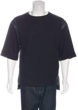 Dries Van Noten Striped Short Sleeve Sweatshirt