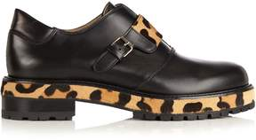 Francesco Russo Leather and calf-hair loafers