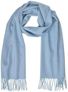 Mila Schon Women's Light Blue Cashmere Scarf.