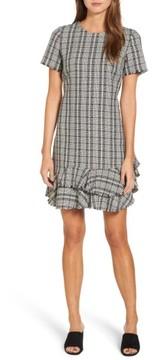 Chelsea28 Women's Tweed Ruffle Shift Dress