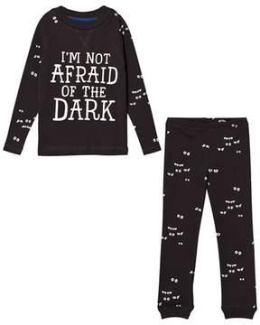Joules Dark Grey Glow in the Dark Eye Pyjamas
