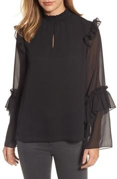 Bobeau Women's Ruffle Sleeve Blouse