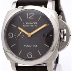 Panerai Luminor PAM00351 Titanium / Leather Automatic 44mm Mens Watch