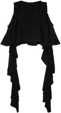 Ellery cold shoulder pleated top