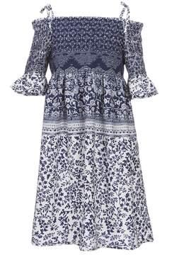 Bonnie Jean Big Girls 7-16 Smocked Floral Dress