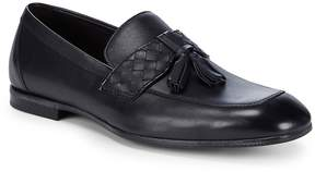 Bottega Veneta Men's Basketweave Leather Tassel Loafers