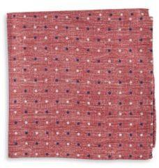 Black & Brown Black Brown Dotted Silk Pocket Square