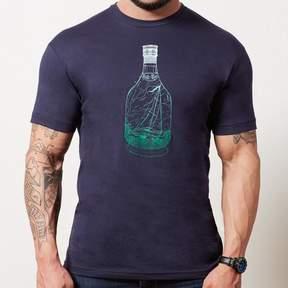 Blade + Blue Navy Ship in a Bottle Gradient Print Tee