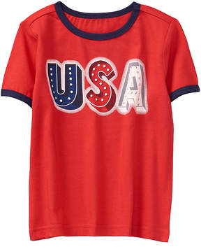 Gymboree True Red & Racing Red 'USA' Tee - Infant, Toddler & Boys