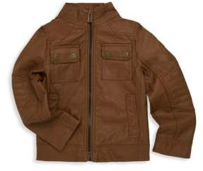 Urban Republic Little Boy's Faux Leather Flap Pocket Jacket