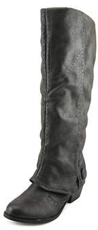 Not Rated Blanchee Women Round Toe Synthetic Gray Knee High Boot.