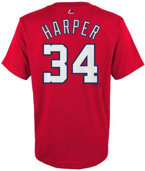 Majestic Boys 4-18 Washington Nationals Bryce Harper Player Name and Number Tee