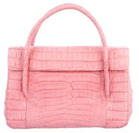 Nancy Gonzalez Matte Crocodile Flap Bag