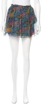 Band Of Outsiders Silk Mini Skirt