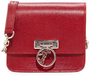 Versace Saffiano Leather Small Crossbody Bag, Red