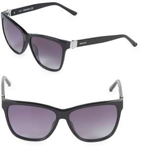 Swarovski Women's 56MM Crystal Square Sunglasses