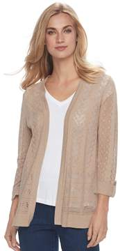 Croft & Barrow Women's Pointelle Cardigan