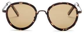 Joe's Jeans Polarized Round 49mm Sunglasses