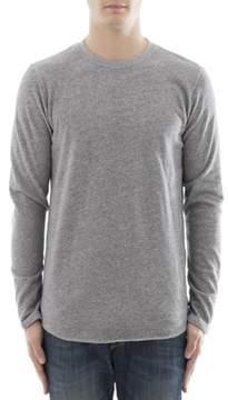 Edwin Men's Grey Cotton Sweater.