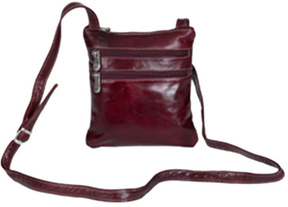 Women's David King Leather 3734 Florentine Cross Body Bag
