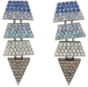 Eddie Borgo Scaled Triangle Ombré Crystal Drop Earrings