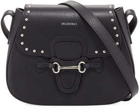 Mario Valentino Valentino By Juliette Studded Leather Crossbody Bag, Black