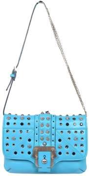 Paula Cademartori Turquoise Leather Handbag