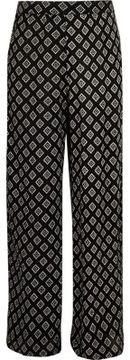 River Island Girls black diamond print palazzo pants
