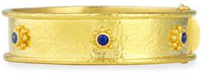 Elizabeth Locke 19k Gold Bangle Bracelet with Blue Sapphires